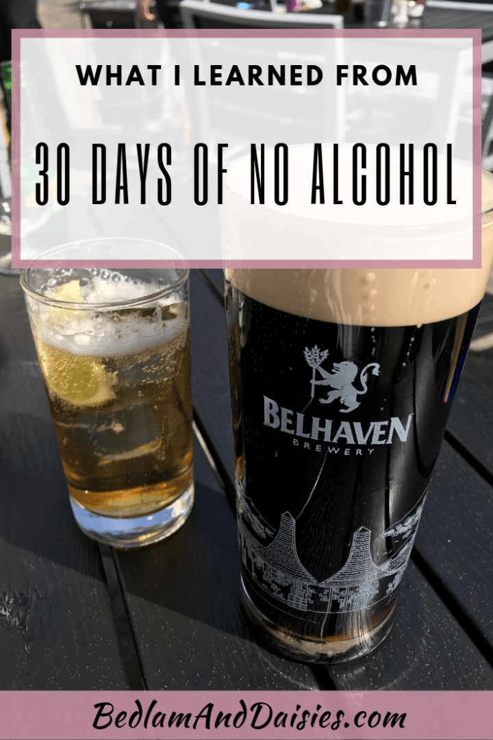 What I Learned From 30 Days of No Alcohol