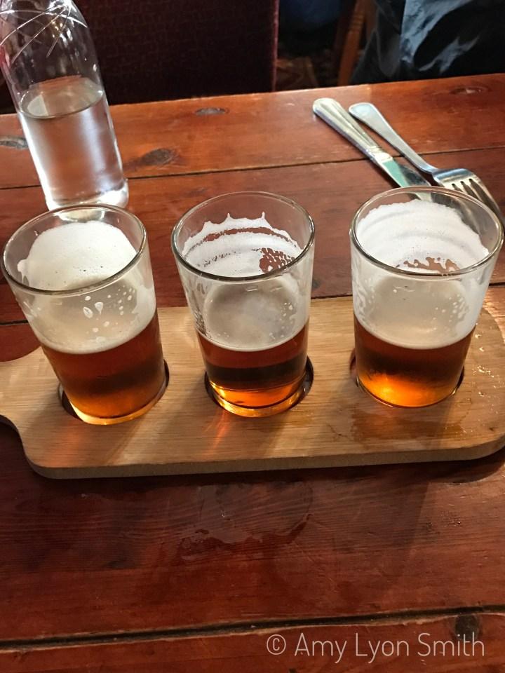 Flight of beers in Stirling, Virginia