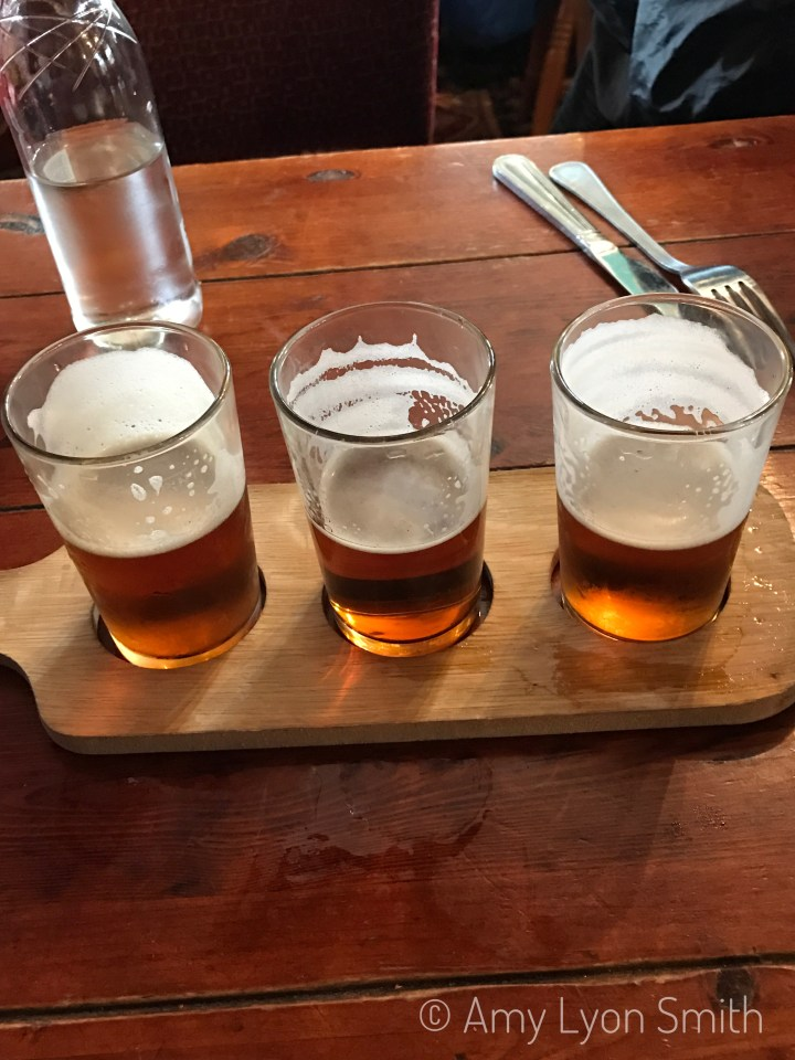 Flight of beers in Stirling, Virginia