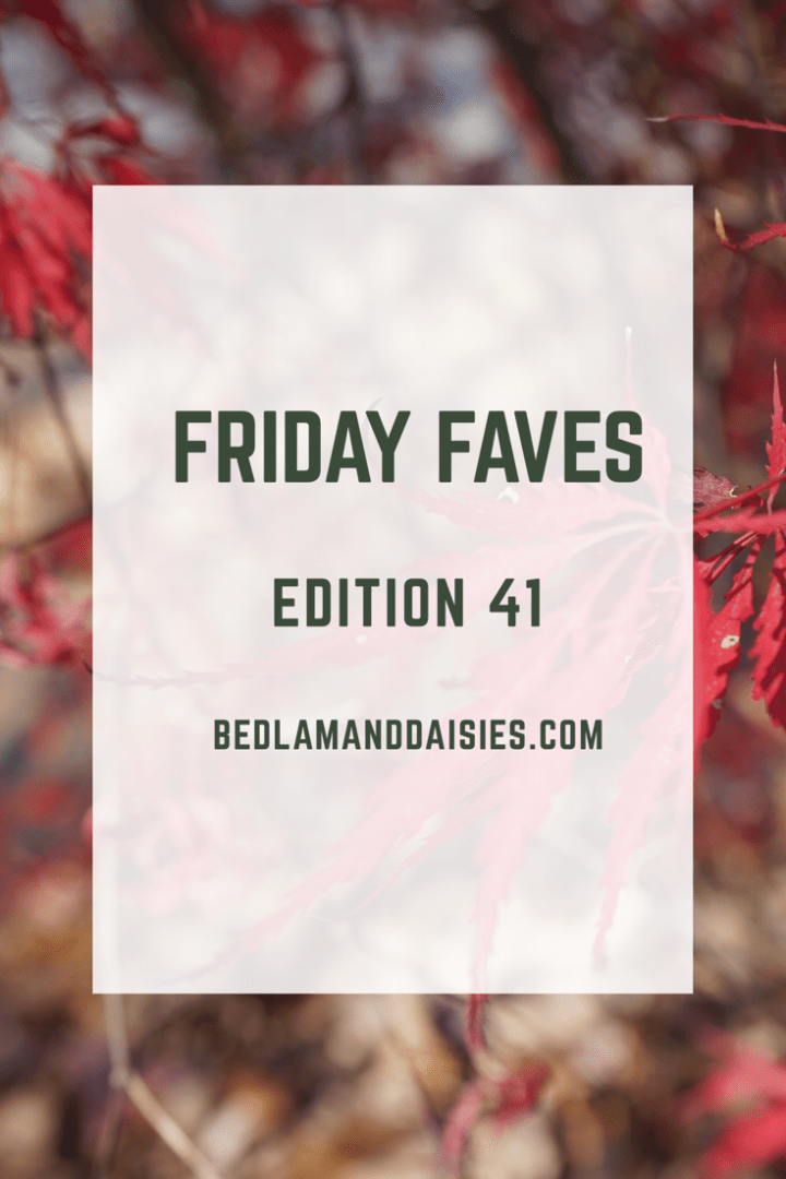 Friday Faves – Edition 41