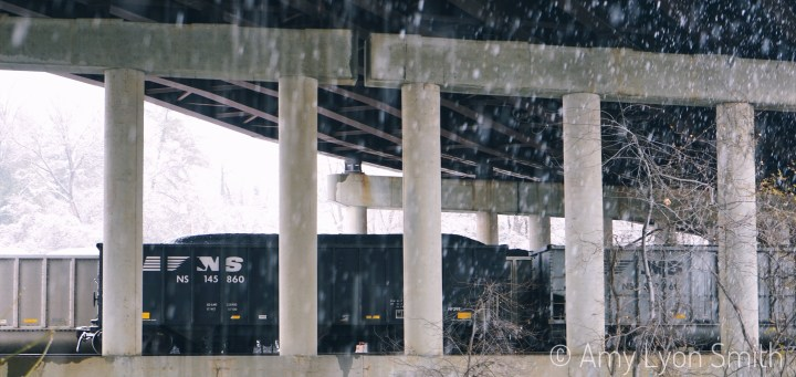 Norfolk Southern Train under Interstate 581