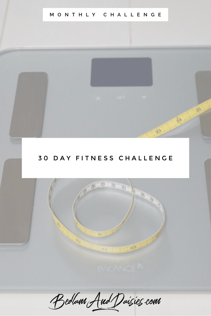 30 Day Fitness Challenge Monthly Challenge