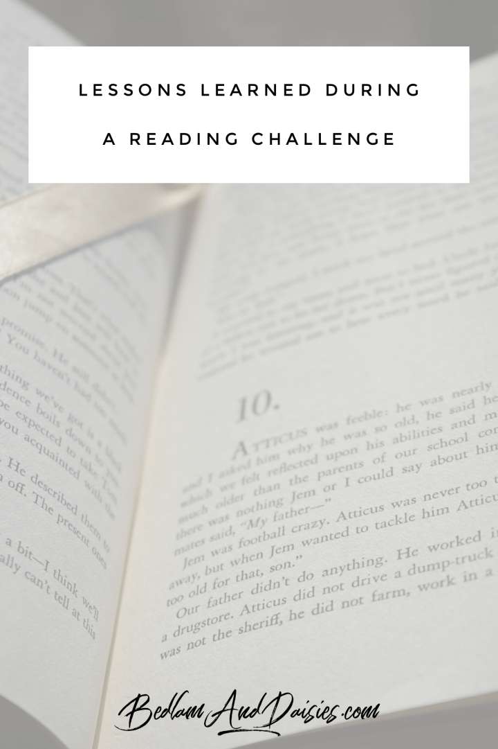 Lessons Learned During a Reading Challenge