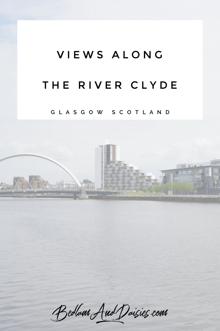 Views along the River Clyde Glasgow Scotland