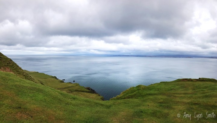 View from the Trotternish Peninsula on the Isle of Skye in Scotland
