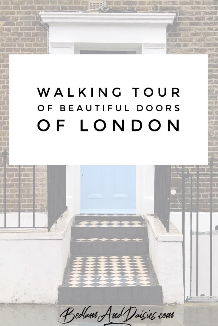 Walking tour of beautiful doors of london