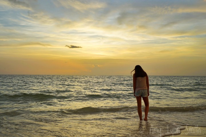 Miss Sunshine at the beach in Naples, Florida Amy Lyon Smith