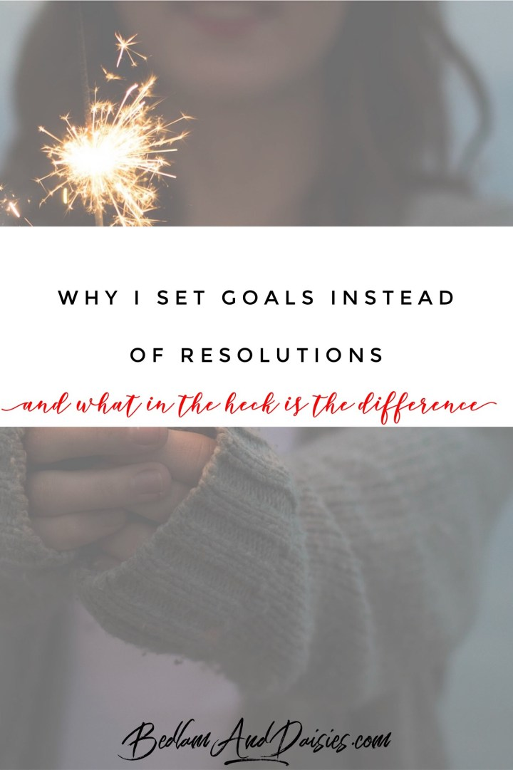 Why I set goals instead of resolutions and what in the heck is the difference