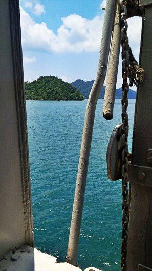 A ferry trip, heading towards the island paradise.