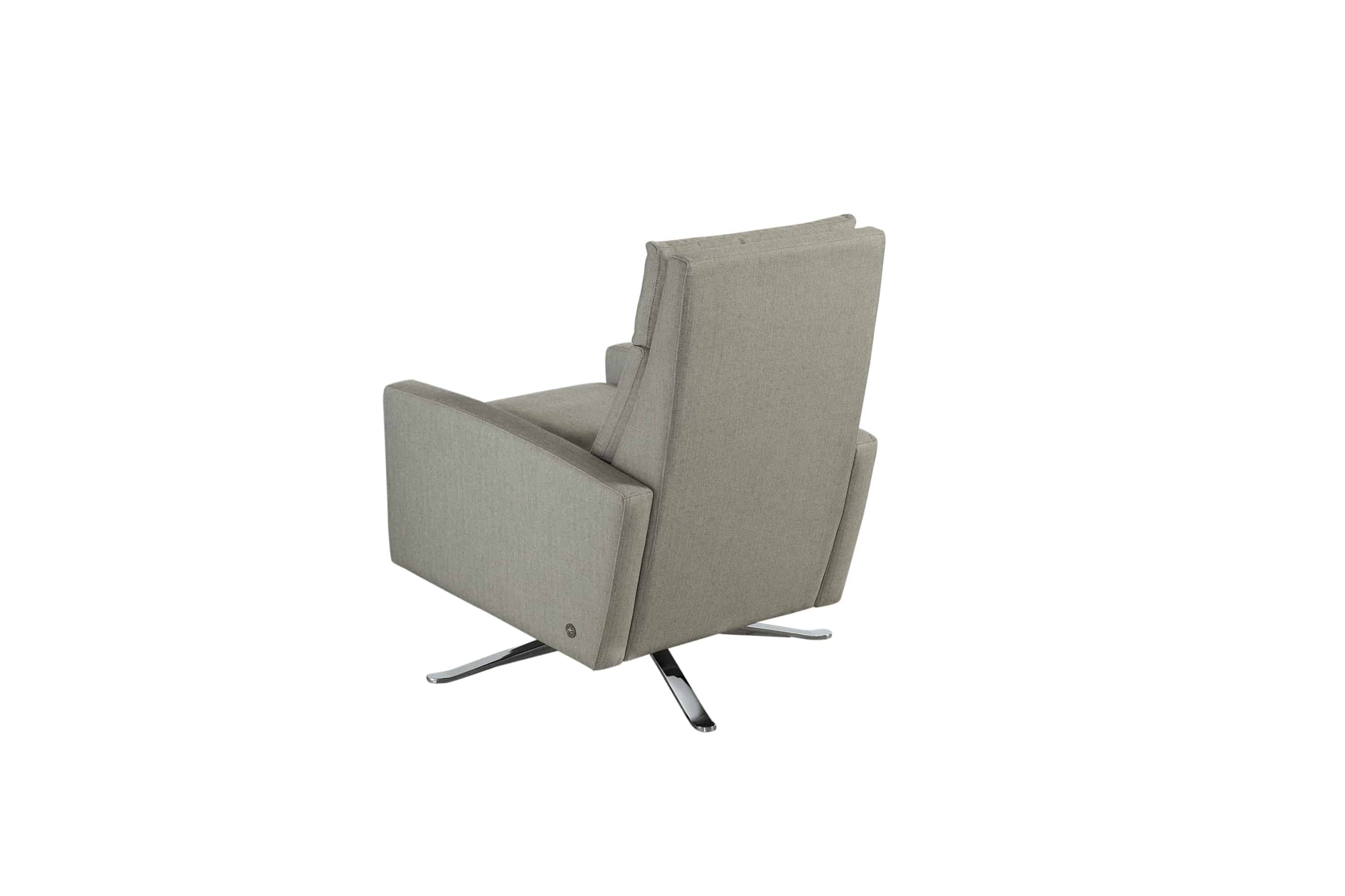 swivel chair inventor leather reception room chairs simon re invented recliner bedroom and more san carlos