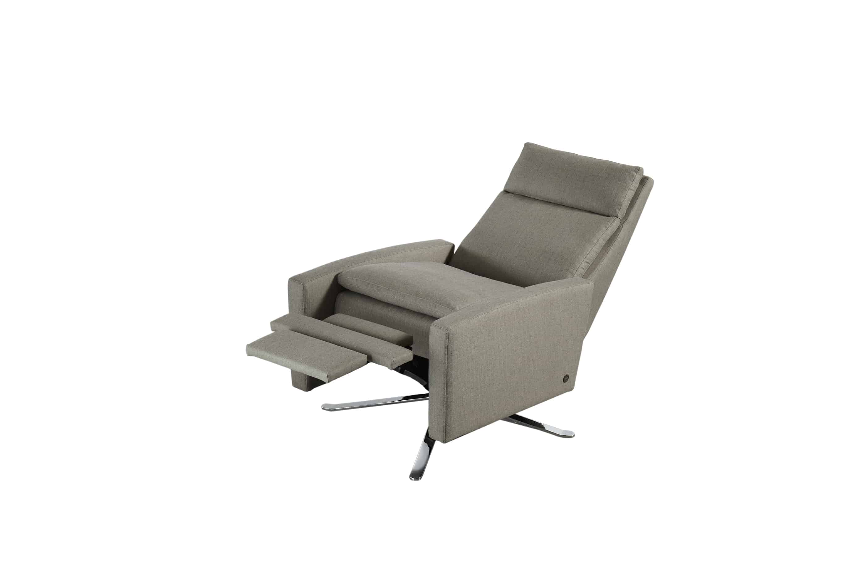 swivel chair inventor fishing full accessory kit simon re invented recliner bedroom and more san carlos
