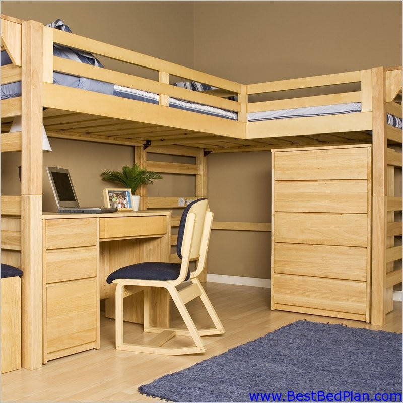Loft Bed Plans : Comfort And Style Come Together With