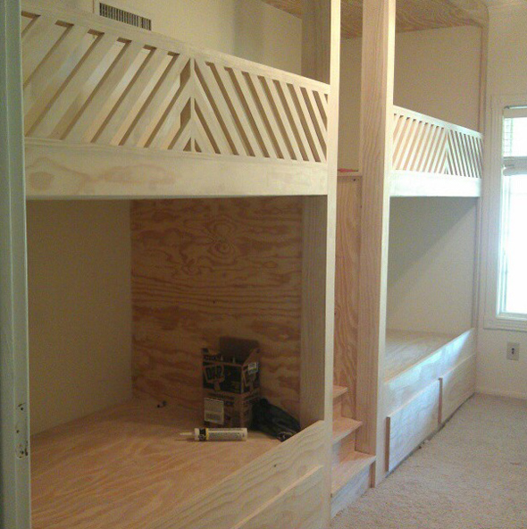 Built In Bunk Beds Plans