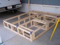 Woodwork King Platform Bed With Drawers Plans PDF Plans