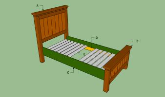 Twin Bed Frame Plans – BED PLANS DIY & BLUEPRINTS