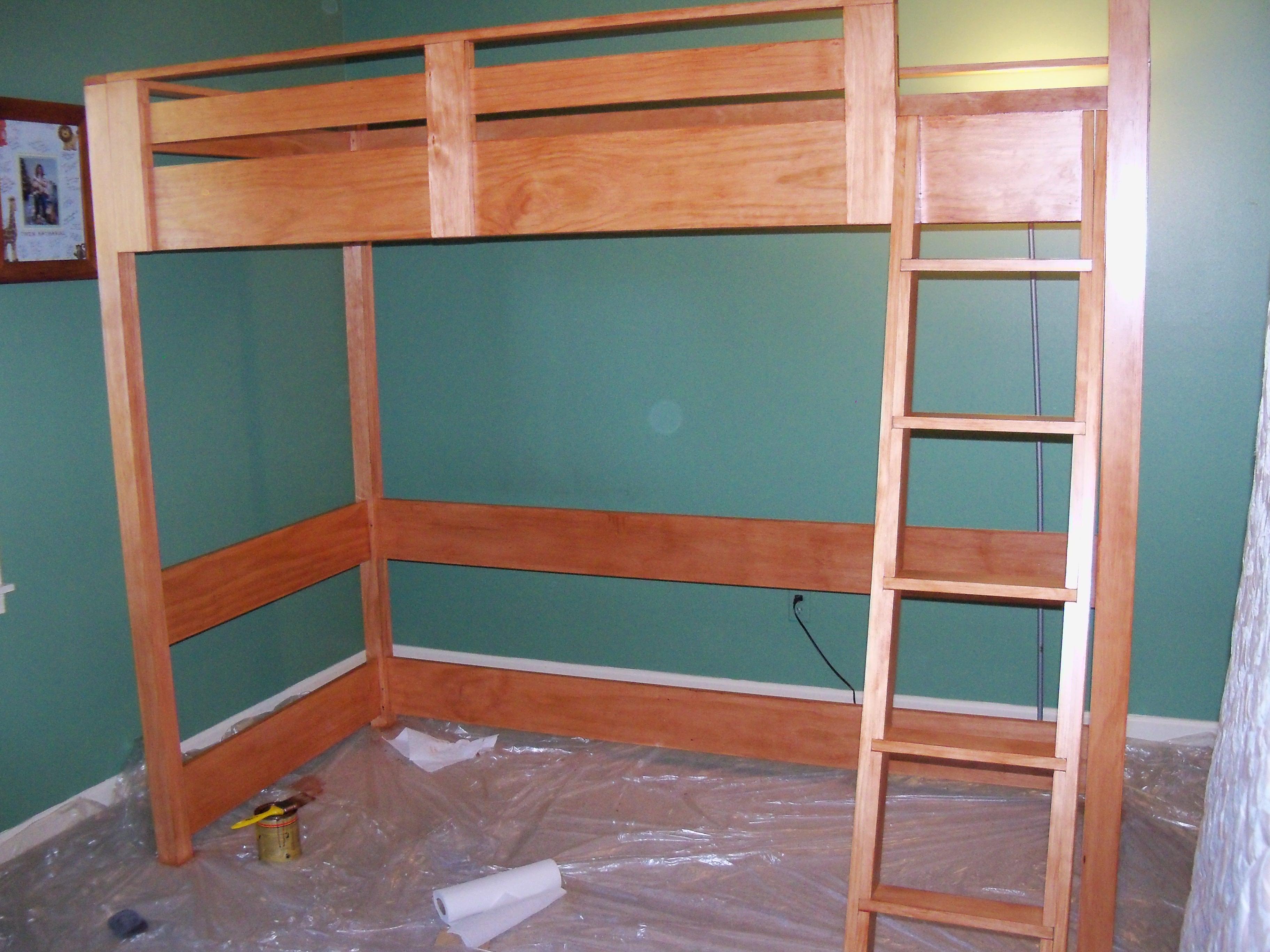 Twin Loft Bed Plans Bed Plans Diy Amp Blueprints