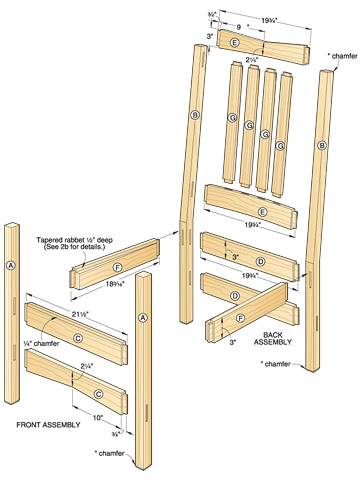 wooden chairs plans