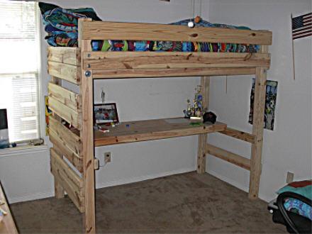 Loft Bed Plans With Desk Bed Plans Diy Amp Blueprints