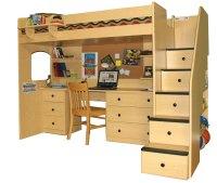 Woodwork Loft Bed With Desk Woodworking Plans PDF Plans