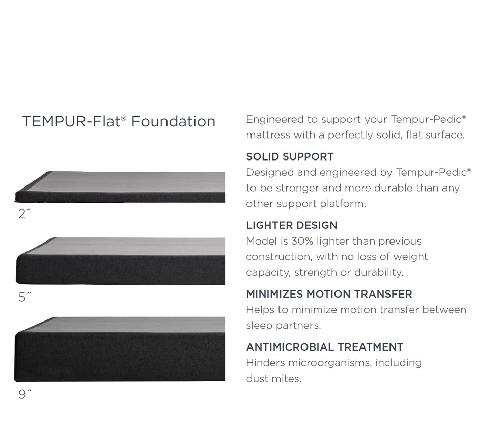 TEMPUR-Flat® Foundation Specs