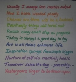 my original writing cut up to make prompts for use beyond today's play at re-arrangement