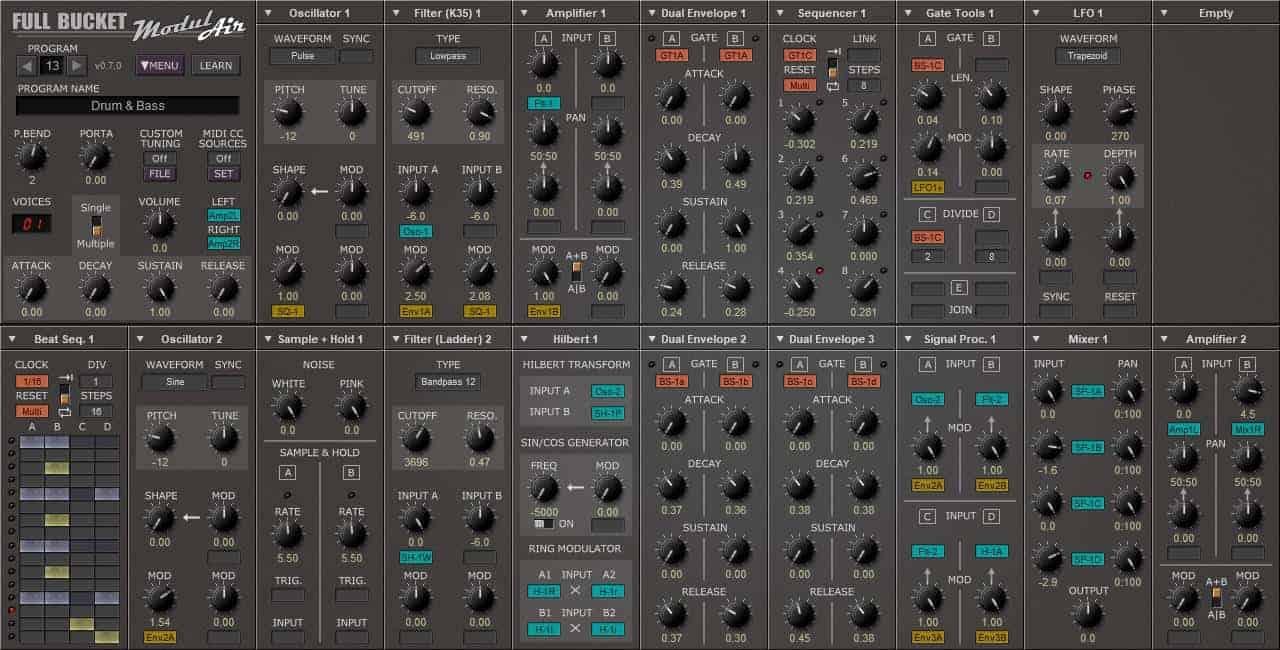 modulair free modular synthesizer