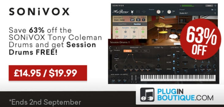 Get 63% OFF SONiVOX Tony Coleman Drums + FREE Session Drums!
