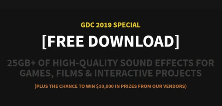 Get 26 GB Of FREE Sound Effects In Sonniss GDC 2019 Audio Bundle