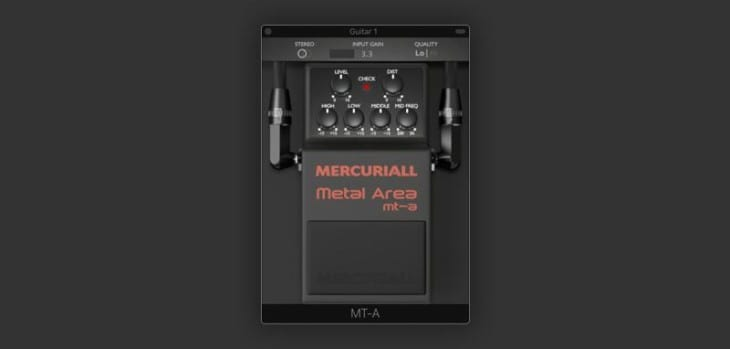 Free MT-A Distortion VST/AU/AAX Plugin Released By Mercuriall Audio