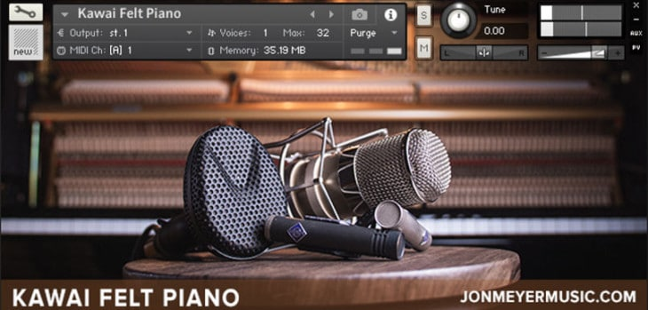 FREE Felt Piano Sample Library Released By Jon Meyer Music