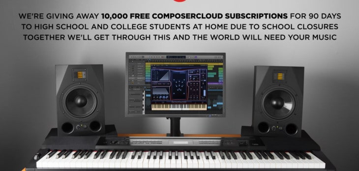 10,000 FREE ComposerCloud Subscriptions Available For Students