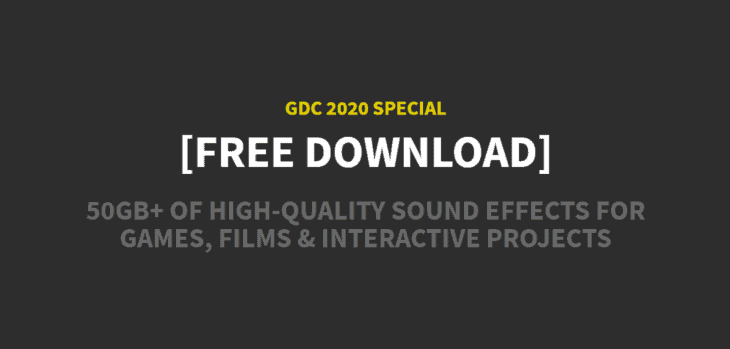 GDC 2020 Audio Bundle by Sonniss