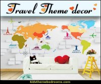Travel theme decorating ideas | theme bedroom decorating ideas