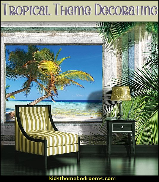 Animal Print Wallpaper For Bedrooms Tropical Theme Hawaiian Style Decorating Theme Bedroom