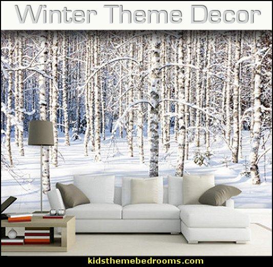 Winter theme decorating ideas  theme bedroom decorating ideas