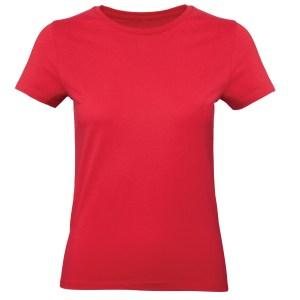 rood dames shirt - t-shirt - korte mouw - bedrukken