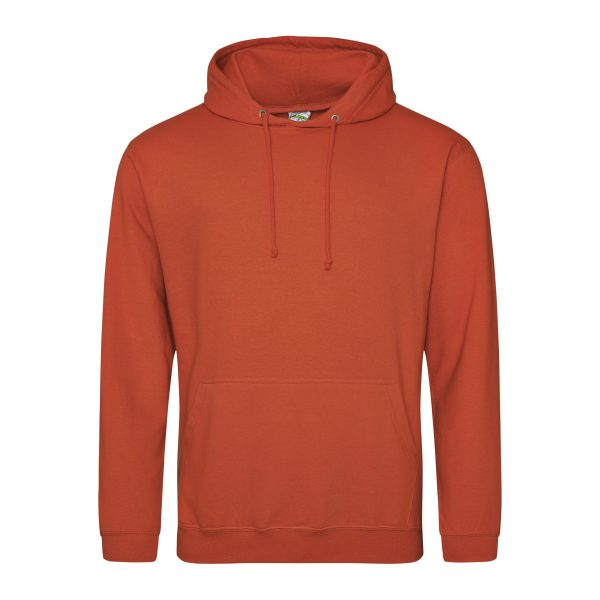 gebrand oranje kleur hoodie - bedruk mijn hoody