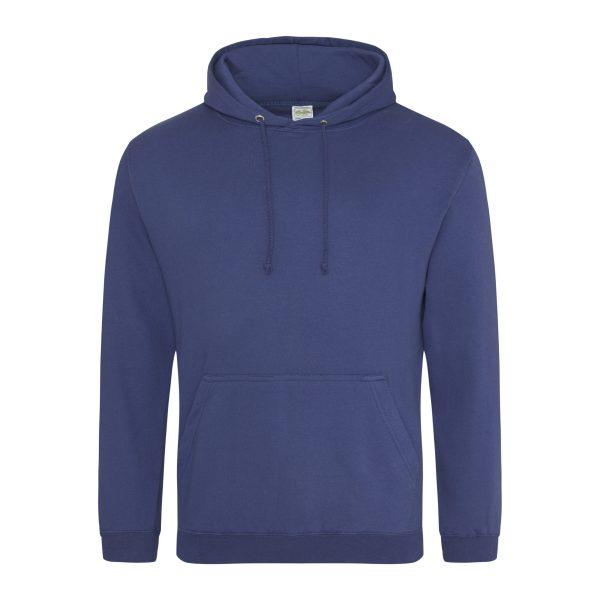 Denim blauw kleur hoodie - bedruk mijn hoody
