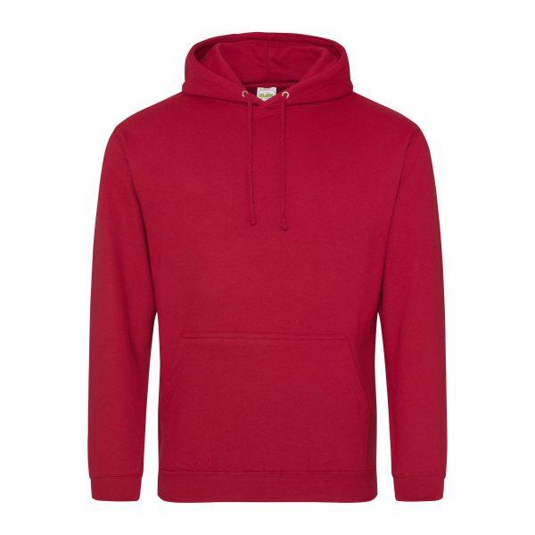 vuur rood kleur hoodie - bedruk mijn hoody