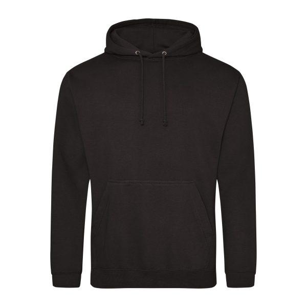Jet black kleur hoodie - bedruk mijn hoody