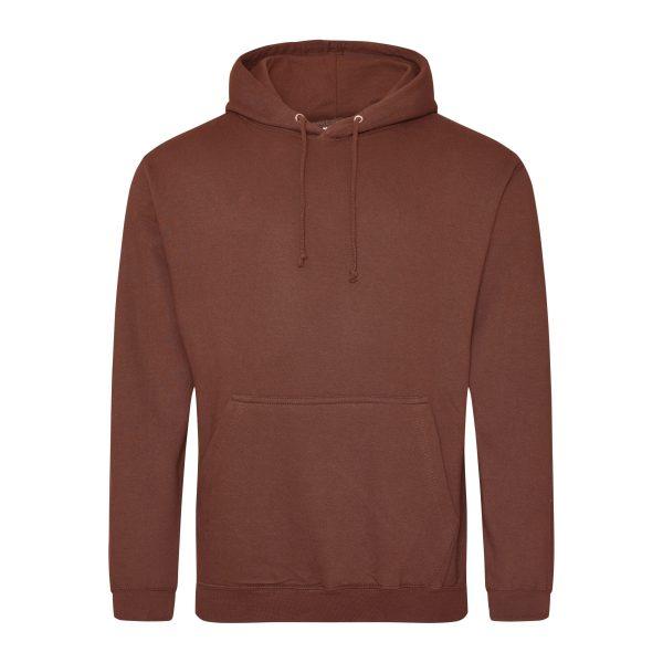 roest bruin kleur hoodie - bedruk mijn hoody