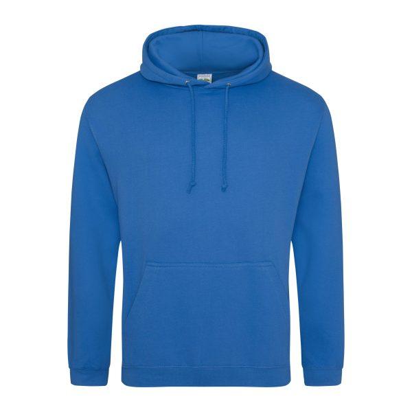 safier blauw kleur hoodie - bedruk mijn hoody
