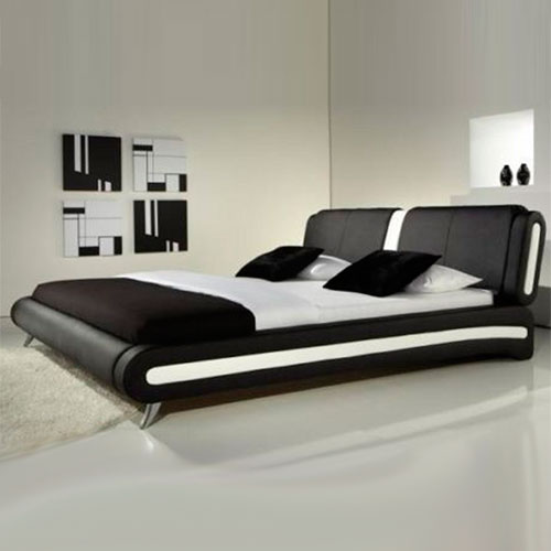 florence modern leather bed