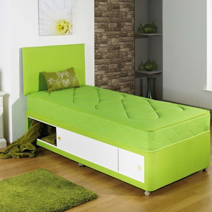Harvey Single Kids Divan Bed with Hand Tufted Spring