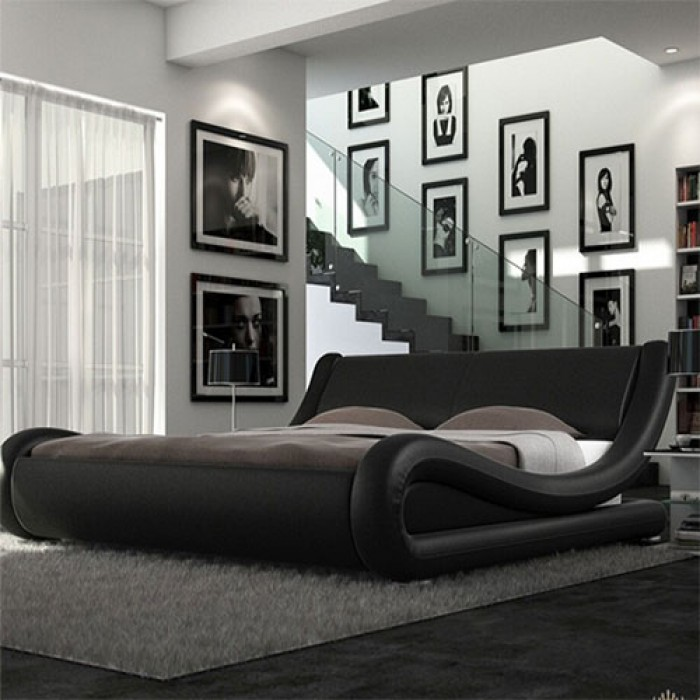 Volo Italian Modern Leather Bed Luxury Leather Beds