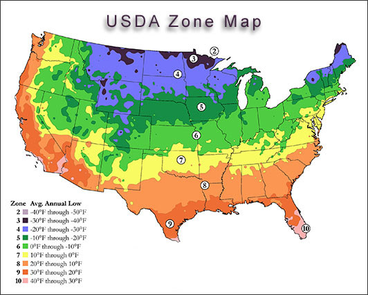 Zone 4 map beds and borders landscape design for Garden design zones