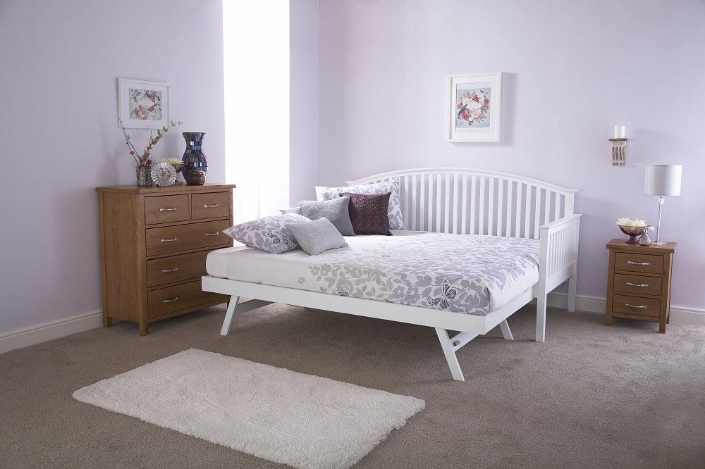 sofa warehouse clearance uk grey red carpet gfw furniture madrid wooden day bed and trundle option in ...