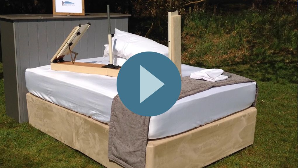 Watch our stop motion video on YouTube showing how to set up the PillowShelf