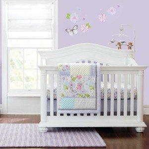 Bella 6 Piece Baby Crib Bedding Set by Just Born - Girl Crib Bedding Under $75