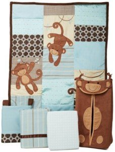 Boys Monkey Crib Bedding - Giggles by Lambs Ivy